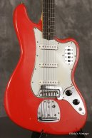 1963 pre-CBS Fender BASS VI original custom color FIESTA RED!!!