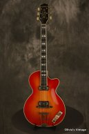 1959 Hofner CLUB 60 Cherry Sunburst w/TOASTER pickups! #195 made in Germany